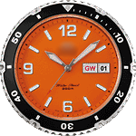 Orange Mako Clock Face