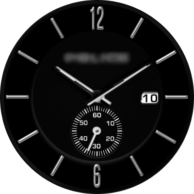 Police Black Android Watch Face