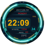 R3 NEON Clock Face