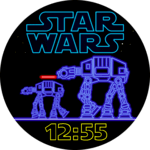 Star Wars Neon Watch Face