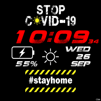 Stop COVID-19 Android Watch Face