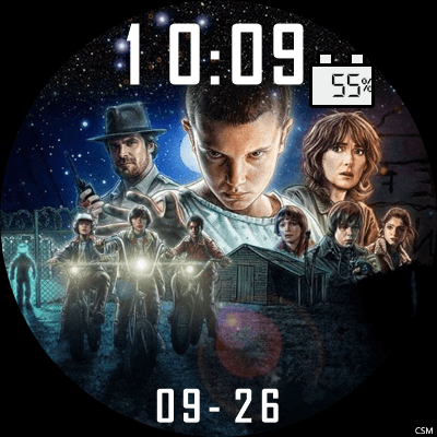 Stranger Things 2 Android Watch Face