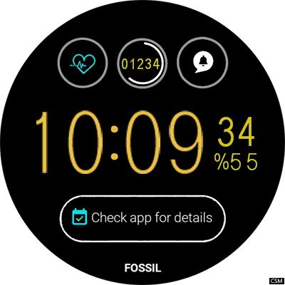 VM 44A Android Watch Face
