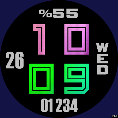 VM 474 A Android Watch Face