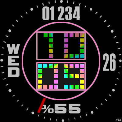 VM 598 A Android Watch Face