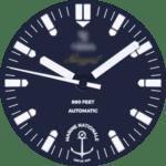 Yema Navygraf Marine Nationale Watch Face