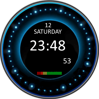 Blue Turbine Android Watch Face