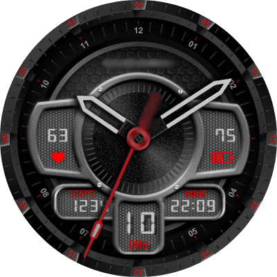 Cavendish Red Trooper Android Watch Face