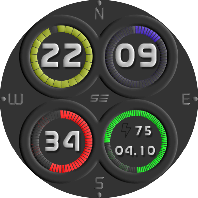 Dark Fluu Android Watch Face