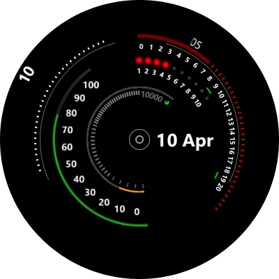 Dual Digital Android Watch Face